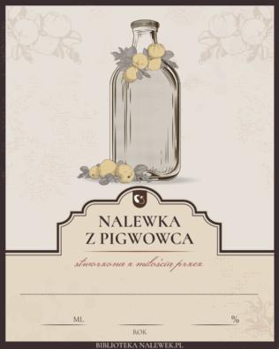 Etykieta do Pigwówka, czyli nalewka z pigwowca…