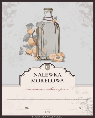 Etykieta do Nalewka morelowa
