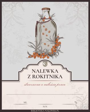 Etykieta do Nalewka z rokitnika