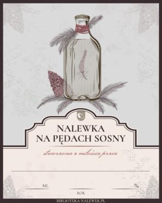Etykieta do Nalewka na pędach sosny