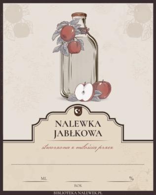 Etykieta do nalewki jabłkowej
