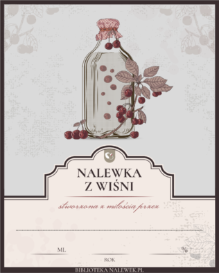 Etykieta do Nalewka wiśniowa