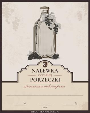 Etykieta do Nalewka z czarnej porzeczki